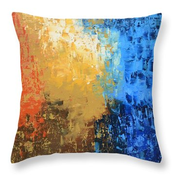 Throw Pillow featuring the painting Show Me Your Glory by Linda Bailey
