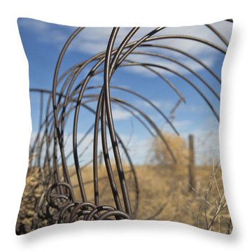 Throw Pillow featuring the photograph Show Me Your Teeth by Sylvia Thornton