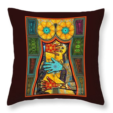 Show Of Hands Throw Pillow