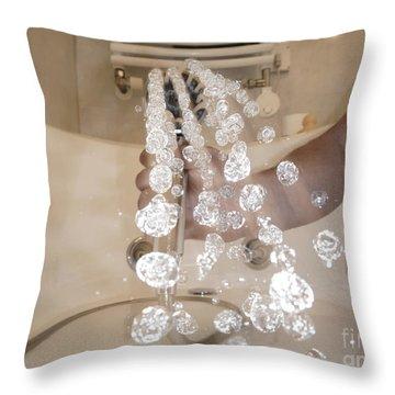 Shower Throw Pillow by Mats Silvan