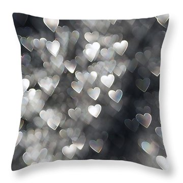 Showered In Love Throw Pillow by Beverly Stapleton