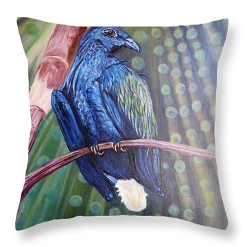 Showered With The Light Of His Creation Throw Pillow