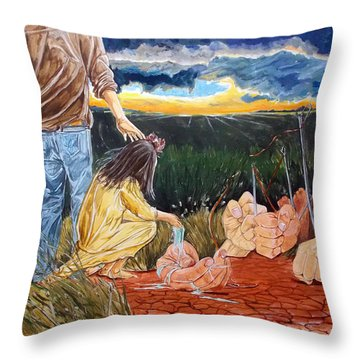 Showing How..... Throw Pillow