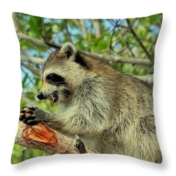 Showing My Teeth Throw Pillow