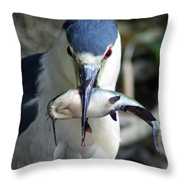 Showing Off His Lunch Throw Pillow