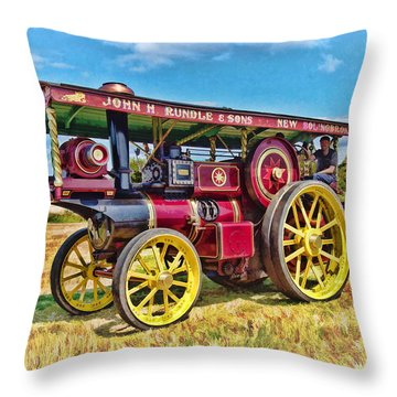 Showmans Engine Throw Pillow
