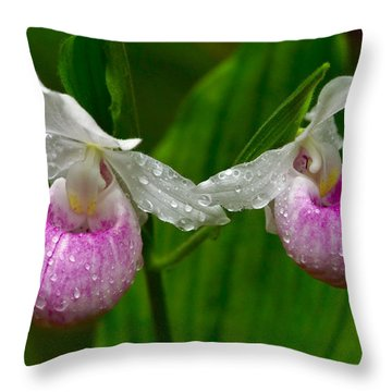 Lady Slipper Throw Pillows