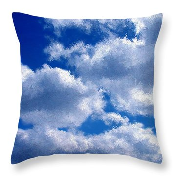 Shredded Clouds Throw Pillow
