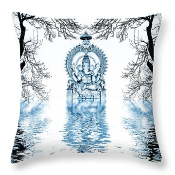 Shri Ganapati Deva Throw Pillow