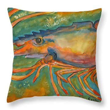 Shrimp Head Throw Pillow
