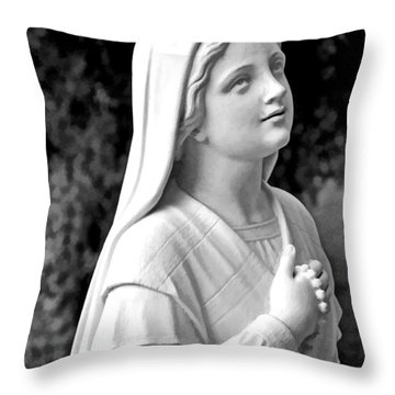 Shrine In Maine Throw Pillow