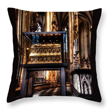 Throw Pillow featuring the photograph Shrine Of The Three Kings by Jim Hill