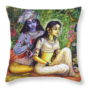 Krishna Throw Pillows