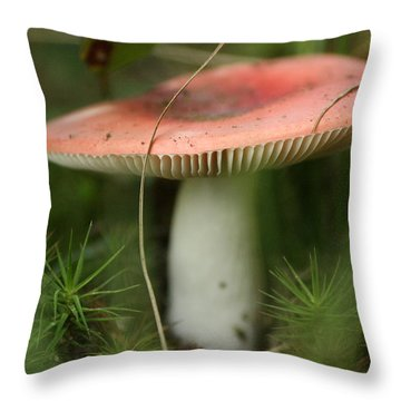 Shroomery Throw Pillow