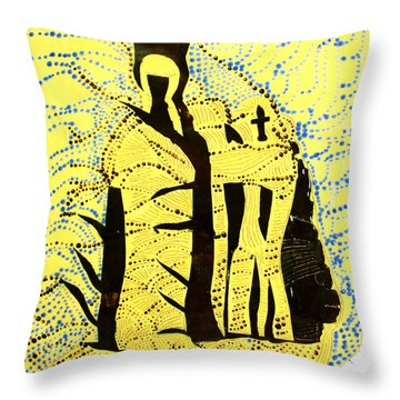 Shroud Of Jesus Throw Pillow