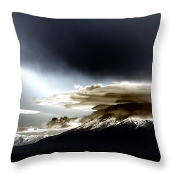 Shrouded Oquirrh Throw Pillow
