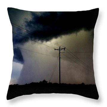 Throw Pillow featuring the photograph Shrouded Tornado by Ed Sweeney
