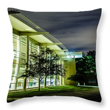 Shs Lower Cafeteria At Night Throw Pillow