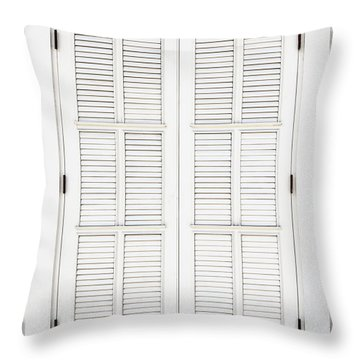Throw Pillow featuring the photograph Shutters In Ponce by Bryan Mullennix