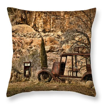 Shuttle Transport Throw Pillow by Priscilla Burgers