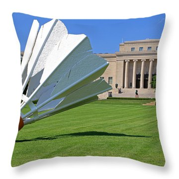 Shuttlecocks Throw Pillow