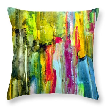 Throw Pillow featuring the painting Shy by Katie Black
