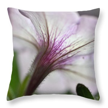 Shy Petunia Throw Pillow
