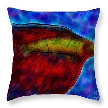 Siamese Fighting Fish II Throw Pillow