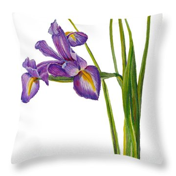 Siberian Iris - Iris Sibirica Throw Pillow