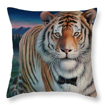 Zoofari Poster The Siberian Tiger Throw Pillow