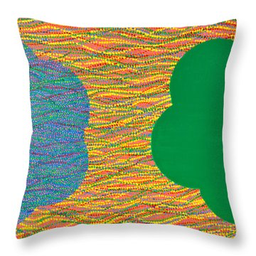 Siblings 2 Throw Pillow by Kyung Hee Hogg