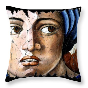 Sibyl Of Delphi Throw Pillow by Steve Bogdanoff