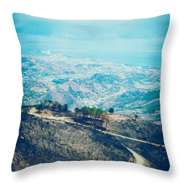 Throw Pillow featuring the photograph Sicilian Land After Fire by Silvia Ganora