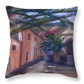 Sicilian Nunnery II Throw Pillow by Donna Tuten
