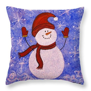 Sid The Snowman Throw Pillow