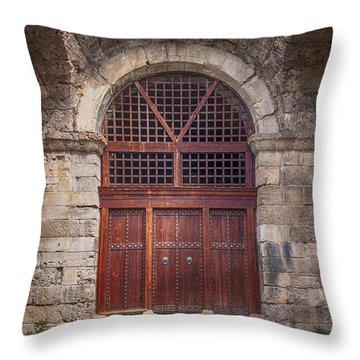 Side Amphitheatre 04 Throw Pillow by Antony McAulay