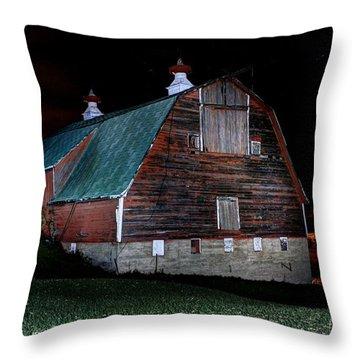 Side Barn Throw Pillow