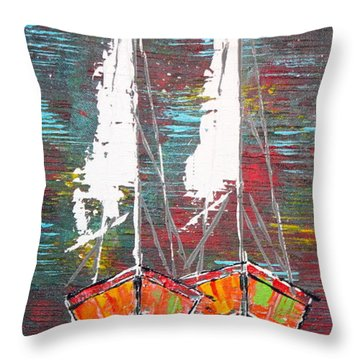 Side By Side - Sold Throw Pillow