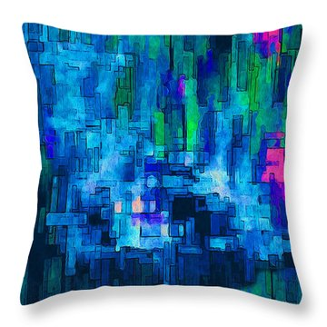Side By Side Throw Pillow by Jack Zulli