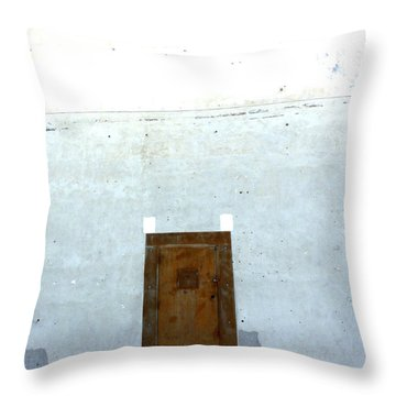 Throw Pillow featuring the photograph Side Door by Lin Haring