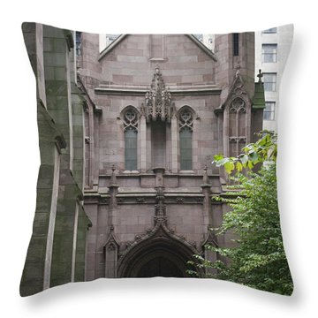 Side Entrance Throw Pillow by Teresa Mucha