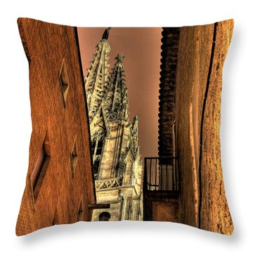 Throw Pillow featuring the photograph Side Of Gaudi by Erhan OZBIYIK
