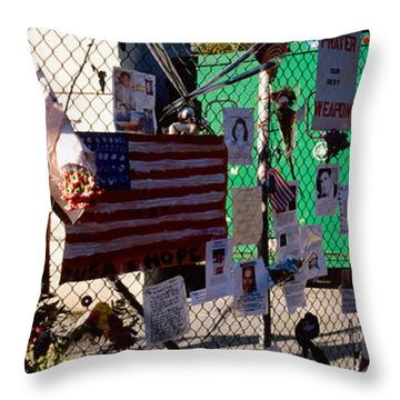 Side Profile Of A Woman Standing Throw Pillow