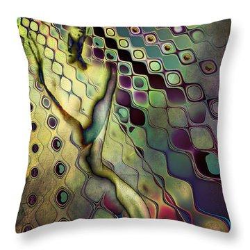Side Swiper Throw Pillow by Greg Sharpe