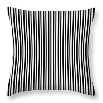 Side Walk- Abstract Line Art Throw Pillow