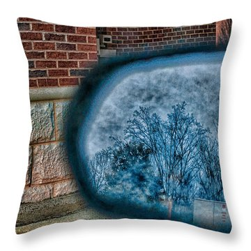 Sideview Mirror Throw Pillow by J Riley Johnson