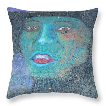 Throw Pillow featuring the photograph Sidewalk Halloween Contest by Janette Boyd