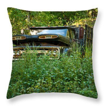 Throw Pillow featuring the photograph Sid's Old Truck by Lena Wilhite