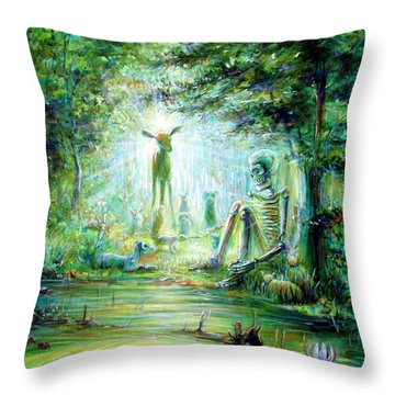 Siempre Conmigo Throw Pillow by Heather Calderon