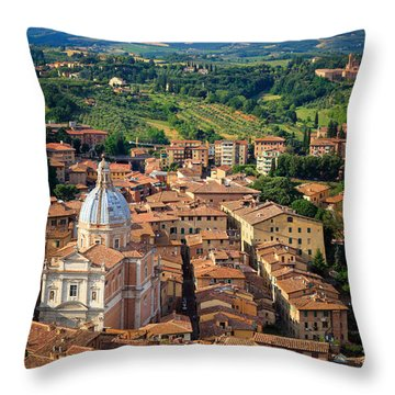 Siena From Above Throw Pillow